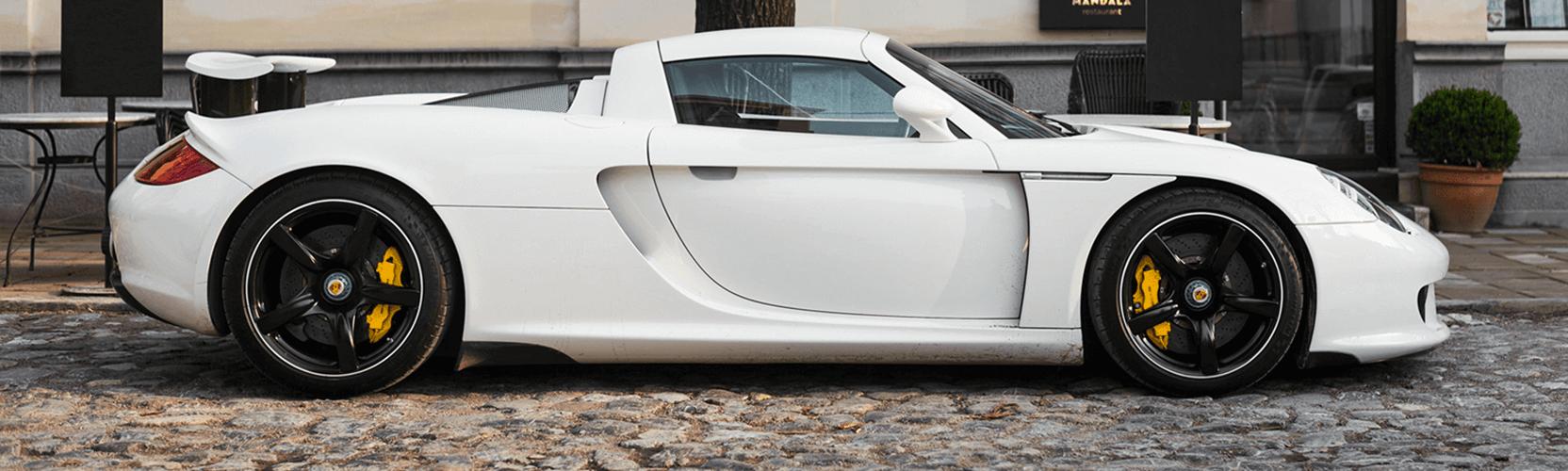 White Porsche Carrera GT